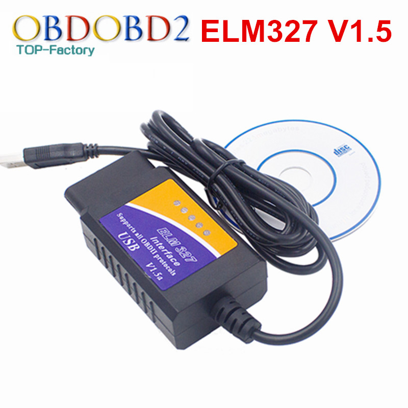 Prix pour Véhicule Outil De Diagnostic OBD2 OBDII ELM327 USB V1.5 OBD Scan USB De Diagnostic Scanner Travail OBD2 Véhicule USB OBD2 ELM327 V1.5 USB