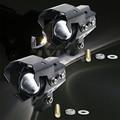2 PCS New U5 U8 Motorcycle Motorbike Headlight 3000LMW Upper Low Beam&Flash LED Driving Fog Spot Head Light Lamp