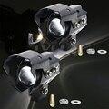 2 UNIDS Nueva U8 U5 Motocicleta Faro 3000LMW Superior Luz de Cruce y luz de Flash LED Conducción de la Niebla Head Contado lámpara