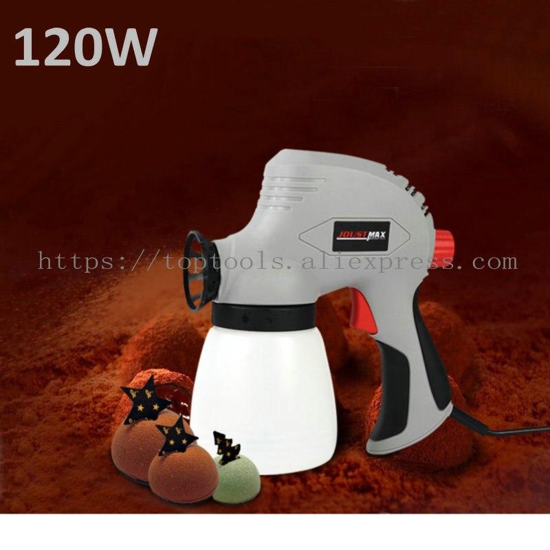 Pistolet de pulvérisation de gâteau de pistolet de pulvérisation électrique à haute tension réglable amovible 120 W 0.8 MM 1.6mm