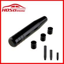 Aluminum Black 8.5cm 13cm 18cm Long Plus Shift Knob+ Adapter Universal Manual Car Gear Stick Shifter Lever