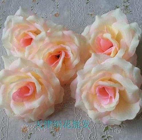 50 шт. искусственная Камелия Роза Пион Свадебные цветы декоративные искусственные цветы несколько цветов - Цвет: champagne