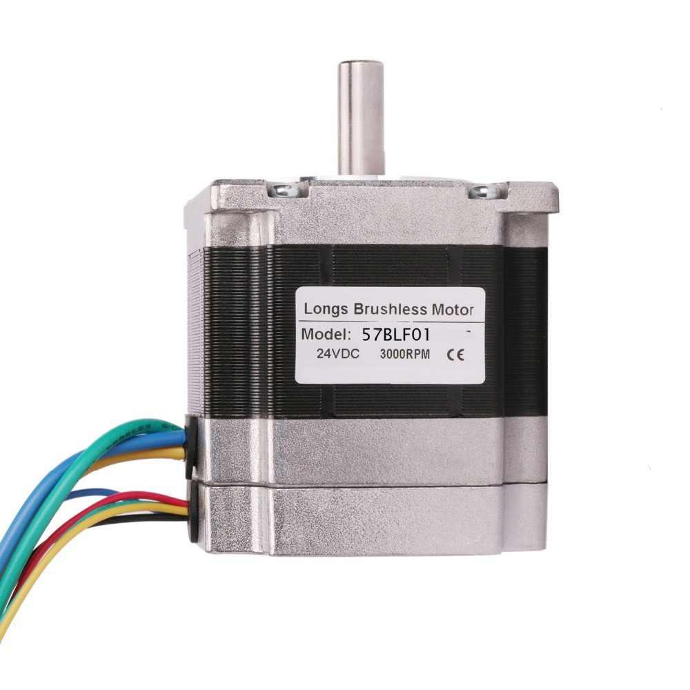 57BLF01 moteur à courant continu sans balai 63 W 24 V 3000 tr/min Nema 23 0.6N.m pilote de pointe BLDC-8015A CNC routeur LONGS moteur