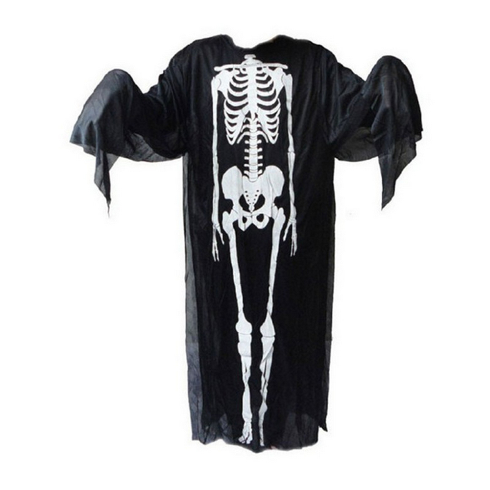 Scary Skeleton Design Devil Ghost Costume for Masquerade Party Halloween Cosplay Accessory Toy Gift