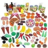 Joyyifor 130pcs/Set Simulation Food Fruit Vegetable Seasoning Cake Pretend Play Toys Early Childhood Education Fun Miniature Toy