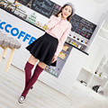 2017 New Spring Autumn Thickness Women High Quality Needle Cotton Knee High Socks High Tube Stockings