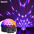 Disco Bal LED Stage Light Crystal Magic Ball Lamp Roterende Party Light Sound Activated Strobe Licht
