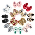 Brand Romirus Baby Girls Mary Jane Flower Baby Shoes PU Leather Baby Moccasins shoes Gold Bow Girls First Walker Toddler Moccs