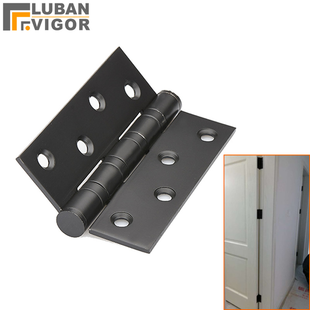 High quality Black4 inch Stainless steel wooden door hinge With bearing  sc 1 st  AliExpress.com & High quality Black4 inch Stainless steel wooden door hinge With ...
