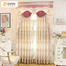 DIHIN HOME Luxury Valance Curtain Blackout Curtains For Living Room Bedroom  Window Treatments Room Panel Drapes