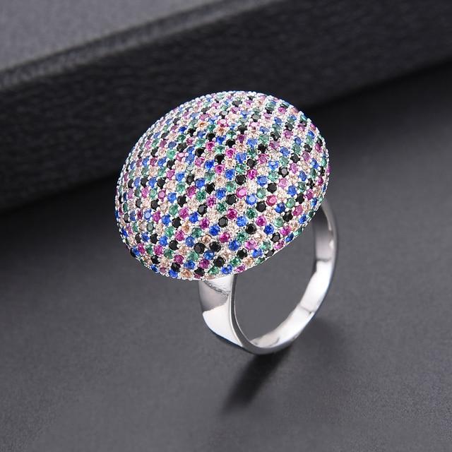 b2d84c91 € 18.85 |Aliexpress.com: Comprar Lujo multicolores Cubic Zirconia dedo  anillos para africano indio boda del anillo de compromiso de las mujeres ...