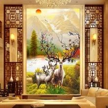 Elk round mosaic New