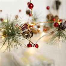 20CM 200pcs LED Christmas Tree Pine Cone Style Fairy Light Led String For Wedding Natal Garland New Year Xmas Holiday Home Decor