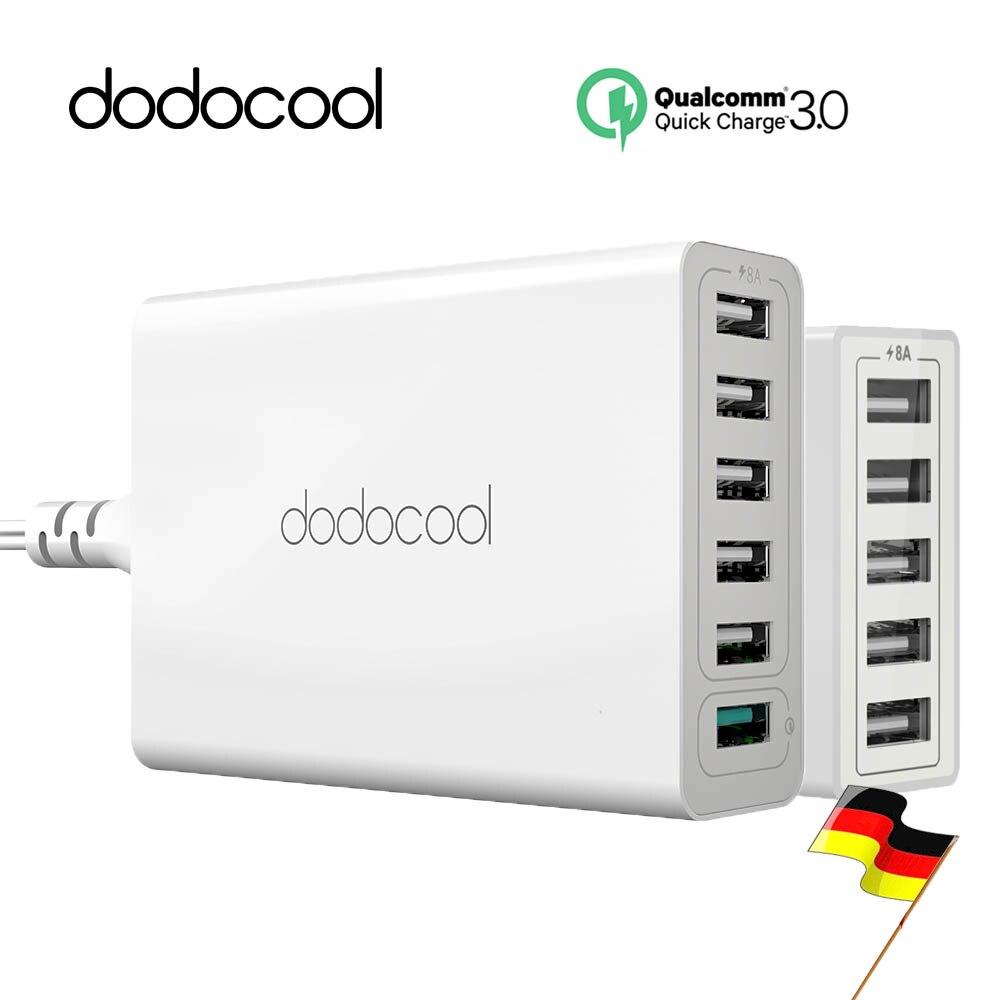 imágenes para Dodocool 5 Puerto USB Cargador 5 USB Estación de Carga Del Muelle Qualcomm Carga Rápida 3.0 6 Puertos Cargador Rápido Inteligente Teléfono cargador