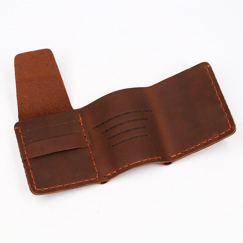 SIMLINE äkta läder plånbok män Det hemliga livet av Walter Mitty - Plånböcker - Foto 5