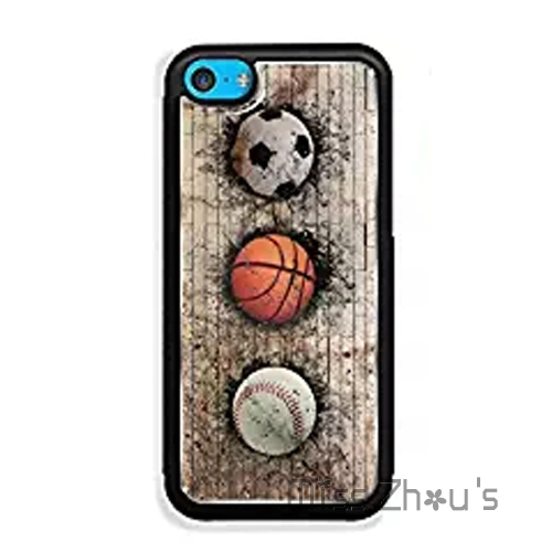 For iphone 4/4s 5/5s 5c SE 6/6s 7 plus ipod touch 4/5/6 cases cover basketball baseball and soccer ball embedded in a brick