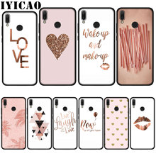 IYICAO Love Heart Pineapple Gold Rose Soft Case for
