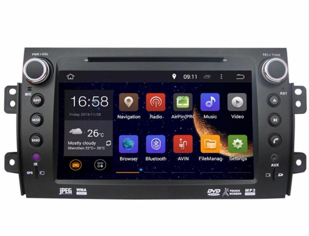 RAM 2GB HD <font><b>Android</b></font> 9.0 Fit <font><b>SUZUKI</b></font> <font><b>SX4</b></font> 2006 2007 <font><b>2008</b></font> - 2012 CAR DVD Player Multimedia Navigation GPS NAVI Radio AUDIO DVD STEREO image