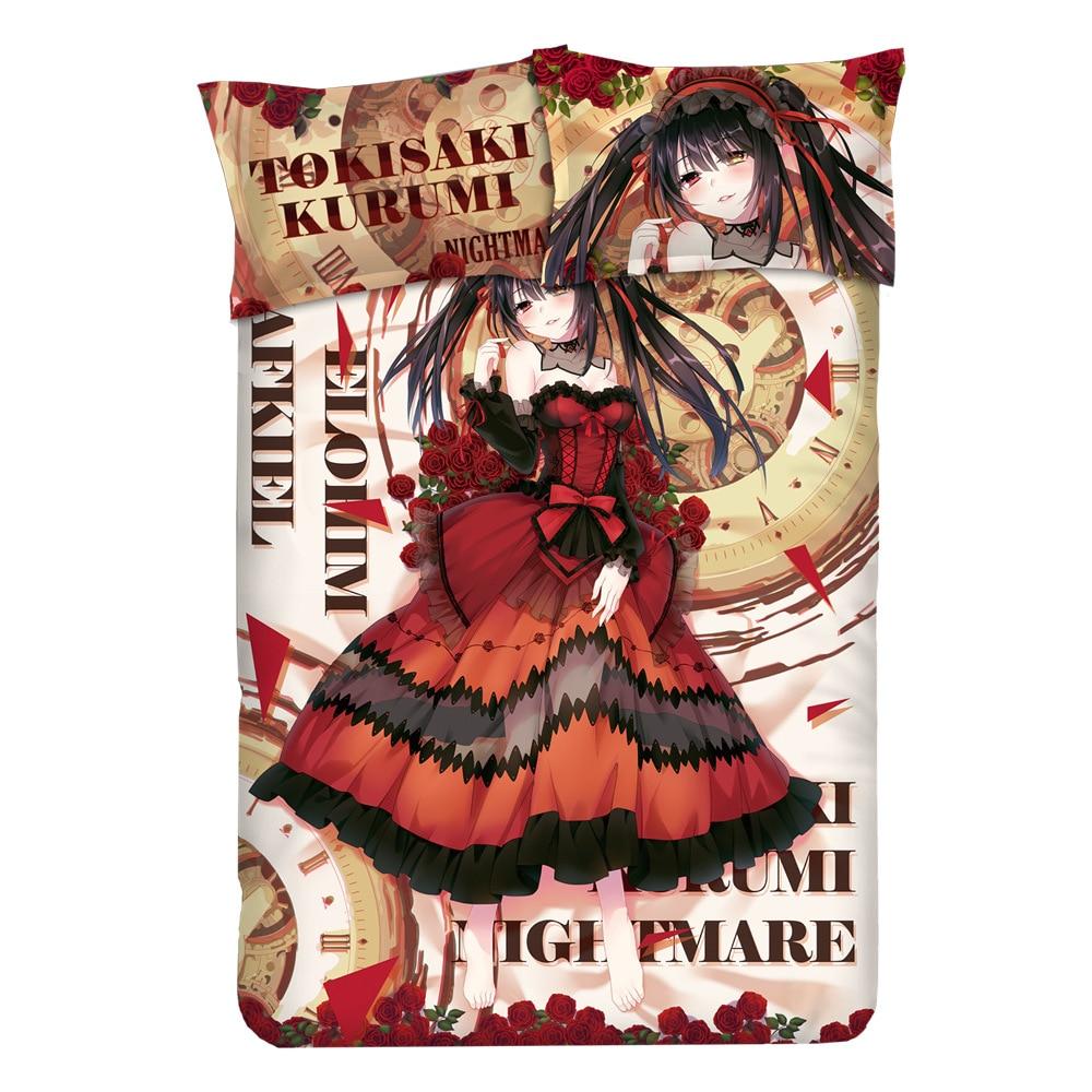 Datum Živa nočna odeja Ovitek iz risanke Posteljnina Tokisaki - Domači tekstil