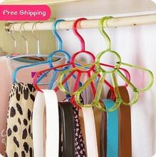 Petals Scarf Hanger Scarf Organizer Silk Scarf Holder Multifunctional Tie font b Rack b font Strap