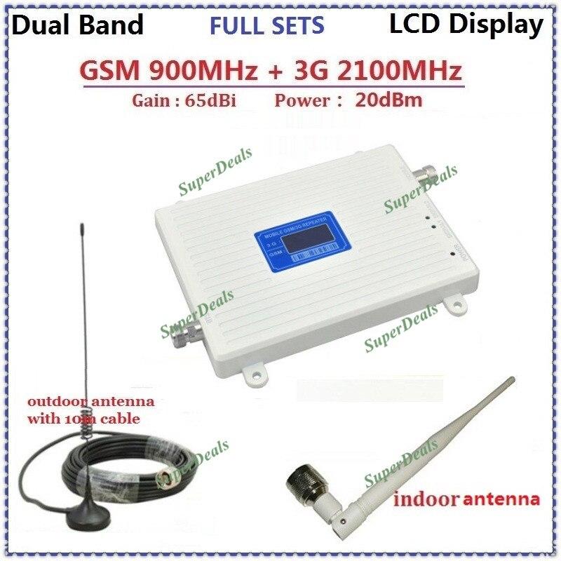 3G GSM amplificateurs amplificateur de Signal cellulaire 3g répéteur gsm amplificateur de signal 2g 900 MHz 2100 MHz
