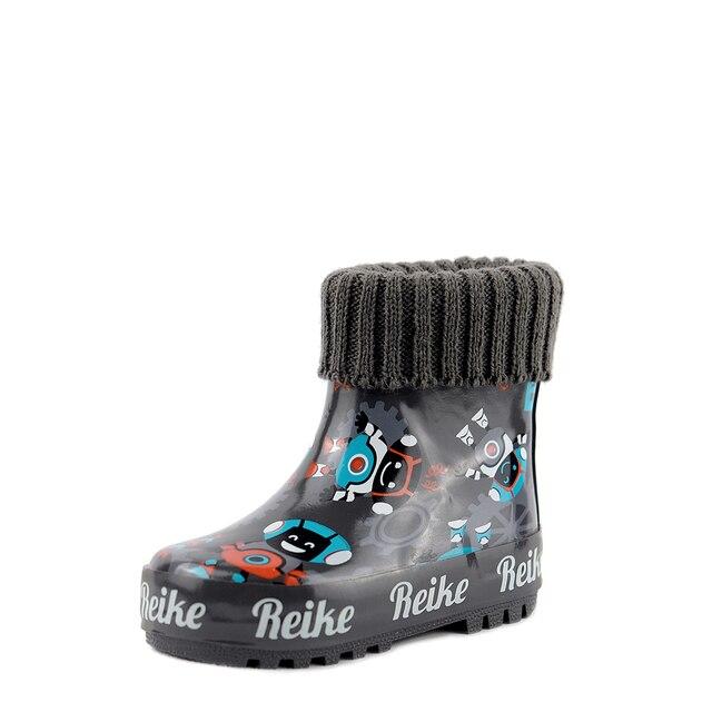 Резиновые сапоги для мальчика Robby Robot dark grey