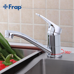 Image 1 - Frap 蛇口キッチンクローム仕上げデッキは単一のハンドルホット冷水トイレ家具 F4513 2