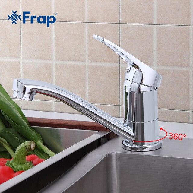 Frap 蛇口キッチンクローム仕上げデッキは単一のハンドルホット冷水トイレ家具 F4513 2