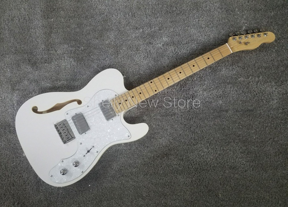 shelly new store factory custom white f hole 6 strings tl guitar one pc maple neck j5 electric. Black Bedroom Furniture Sets. Home Design Ideas