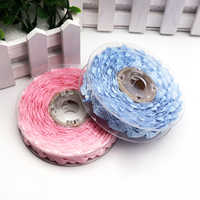 5yards/lot Pink Blue Baby Foot Pattern Lace Trim Ribbon for Kid Baby Shower Birthday Party Decoration Gift Craft Wrapping Supply