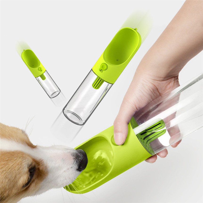 Travel Dog Water Bottle Dispenser: MOLAVE Travel Portable Water Dispenser Bottle Plastic Dog