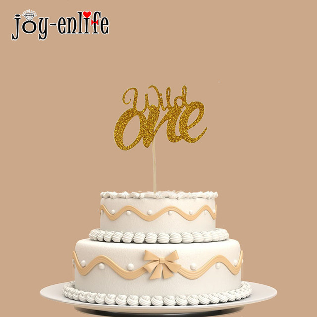 Joy Enlife 1pc Baby Shower Gold Cake Topper First Birthday Acrylic