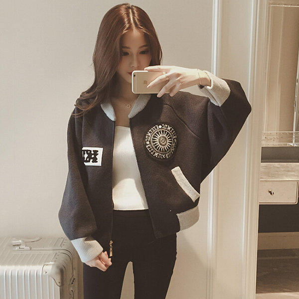 Aliexpress.com : Buy oversize baseball jacket women coat retro ...