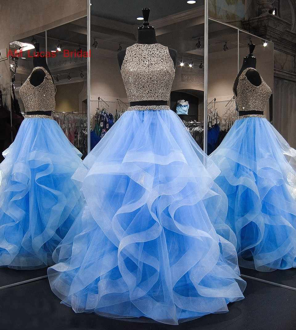 Long Quinceanera Dresses 2 Pieces Beadings Appliques Sweet 16 Years For 15 Year Birthday Party Gowns Vestido De 15 Anos Quinceanera Dresses Aliexpress