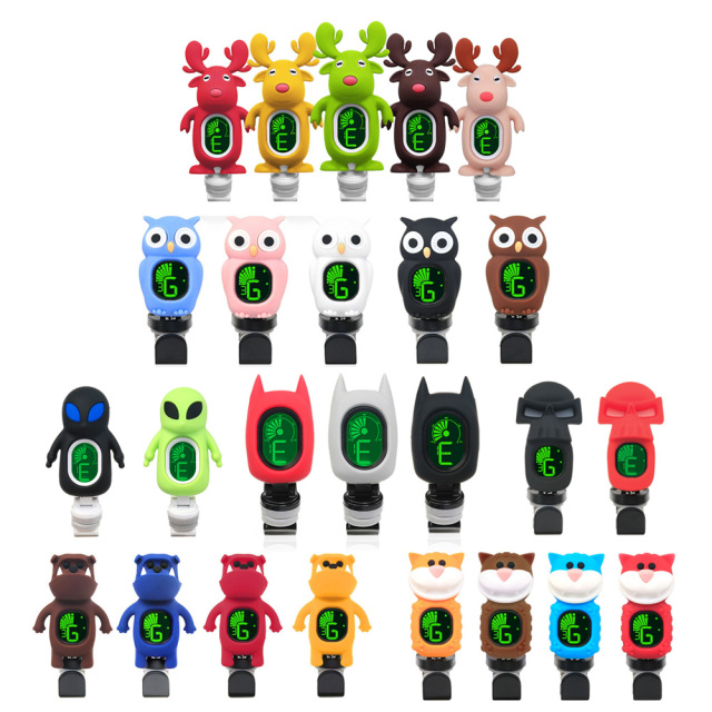 Cute Cartoon Shaped Clip-On Tuners