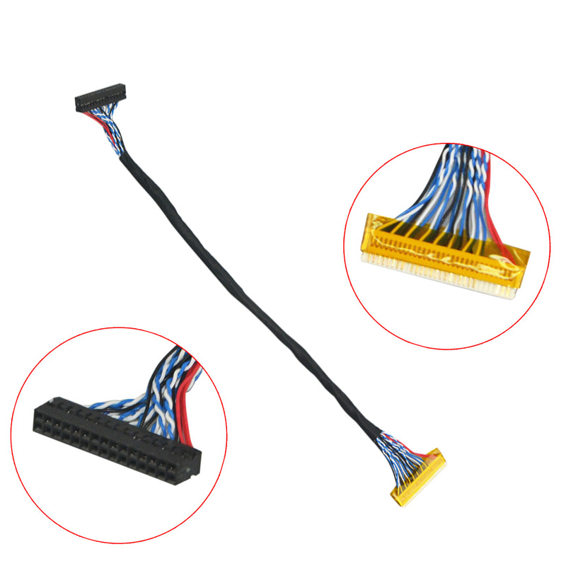 20474-40P-S6 LVDS Cable 40Pin 0.4mm Pitch 2ch 6-bit For 15.4″ LED LCD Screen