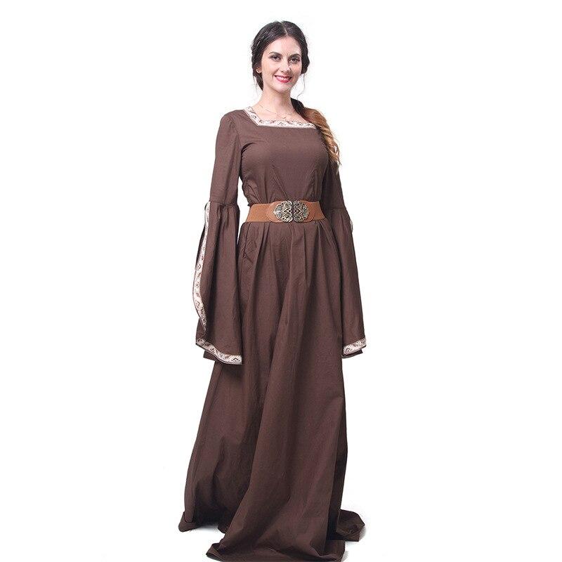 Medieval Wedding Steampunk Gothic Dress Bustle Dress Venice Costume Halloween vampire Brown Gown