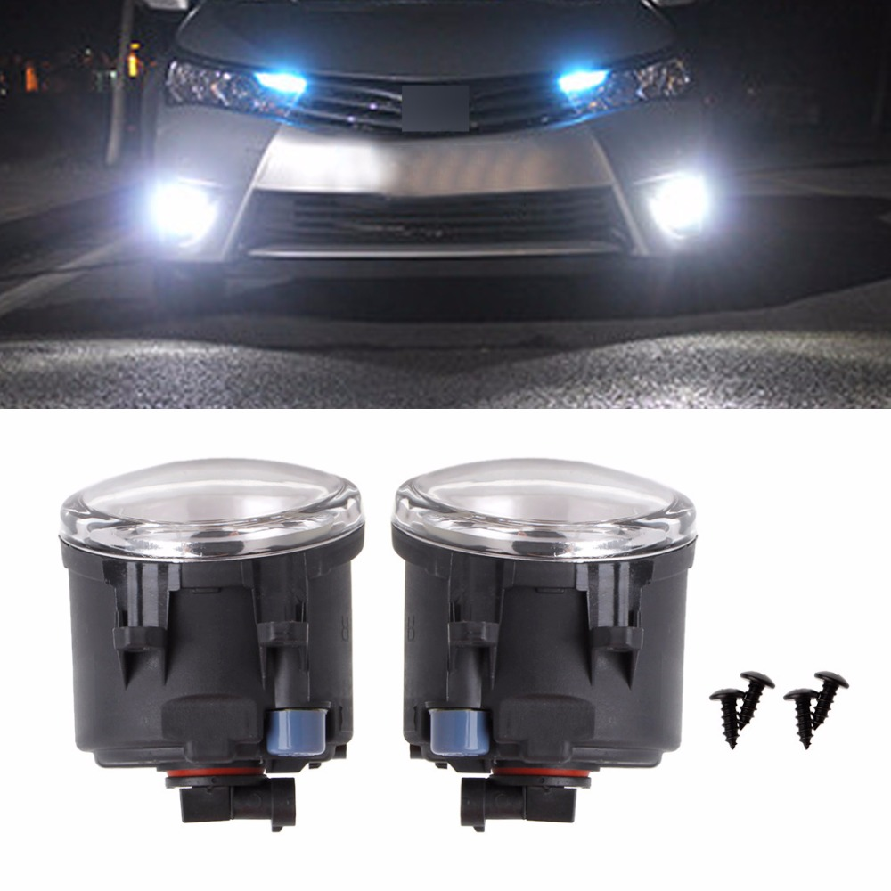 HNGCHOIGE 1 Pair 9 LED 10W Front Fog Light DRL Driving Lamp For Toyota Corolla Camry Yaris for Lexus White Car Light car front bumper fog lamp lights for toyota yaris camry avensis rav4 corolla highlander matrix prius for lexus rx270 lx570