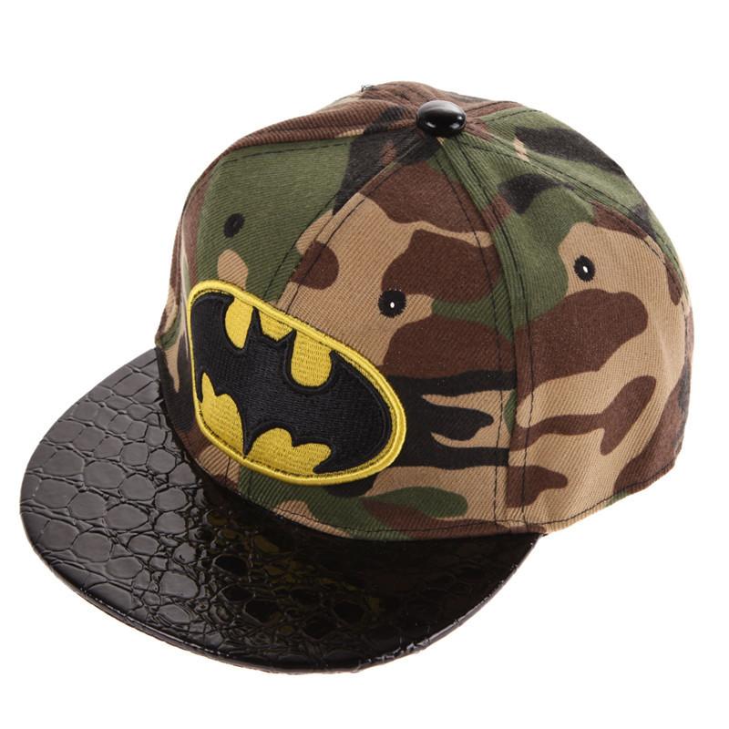 Batman Kid's Snapback Cap - Camo
