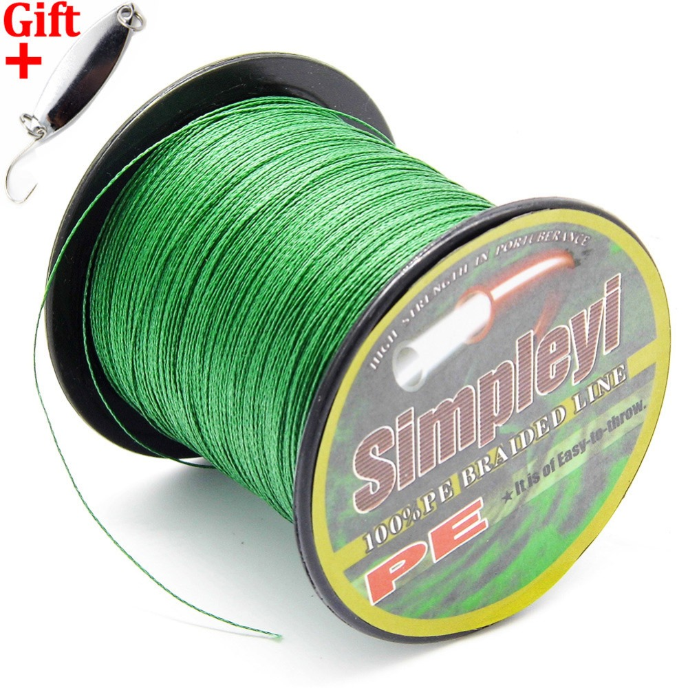 Simpleyi Lure As Gift 100M 6-100LB PE Multifilament Sea Super Braided Japan Strong Fishing Line Carp Fishing For Fish Rope Cord(China)