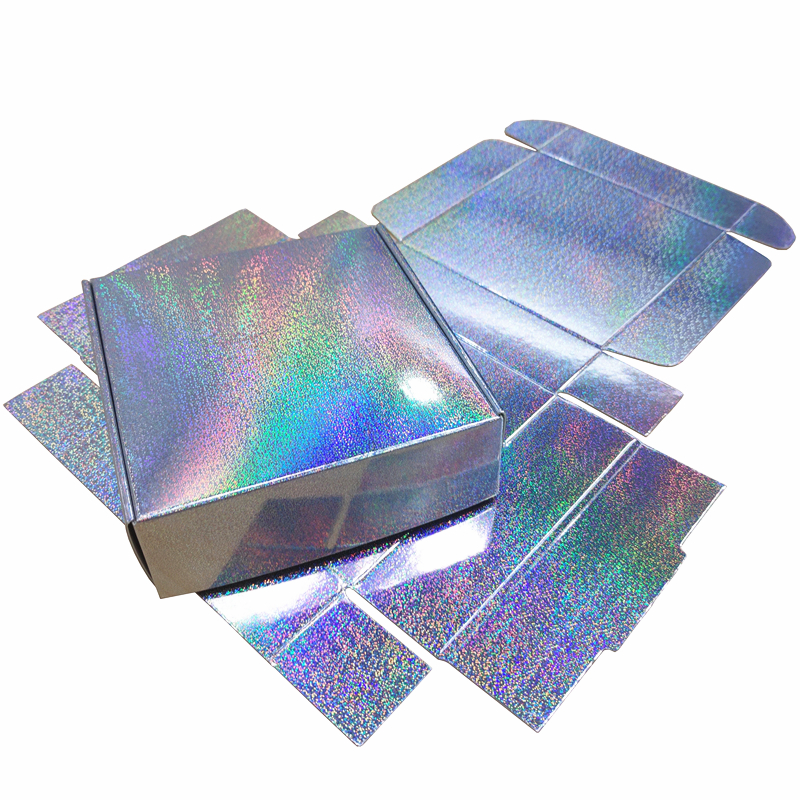 20pcs/lot Micro Dots Holographic Gift Box Silver Laser Packaging Party Favor Box 10x10x3cm Free Shipping
