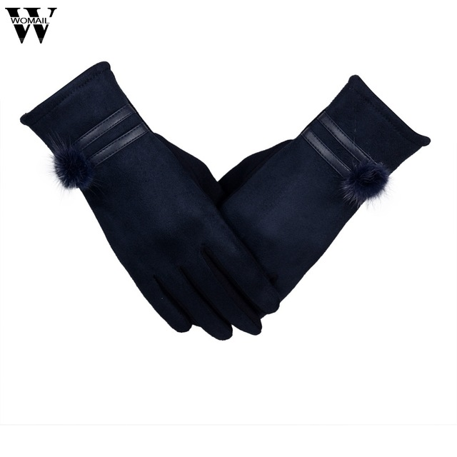 2017 Gloves Women Gloves Winter Warm Soft Wrist Gloves Black high quality SEP21