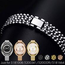 YQ correa de Reloj Correas de reloj de Acero Inoxidable Relojes de Pulsera de SWAROVSKI 12mm Relojes Correa para Mujer Señora + Herramientas 5158548 5158544