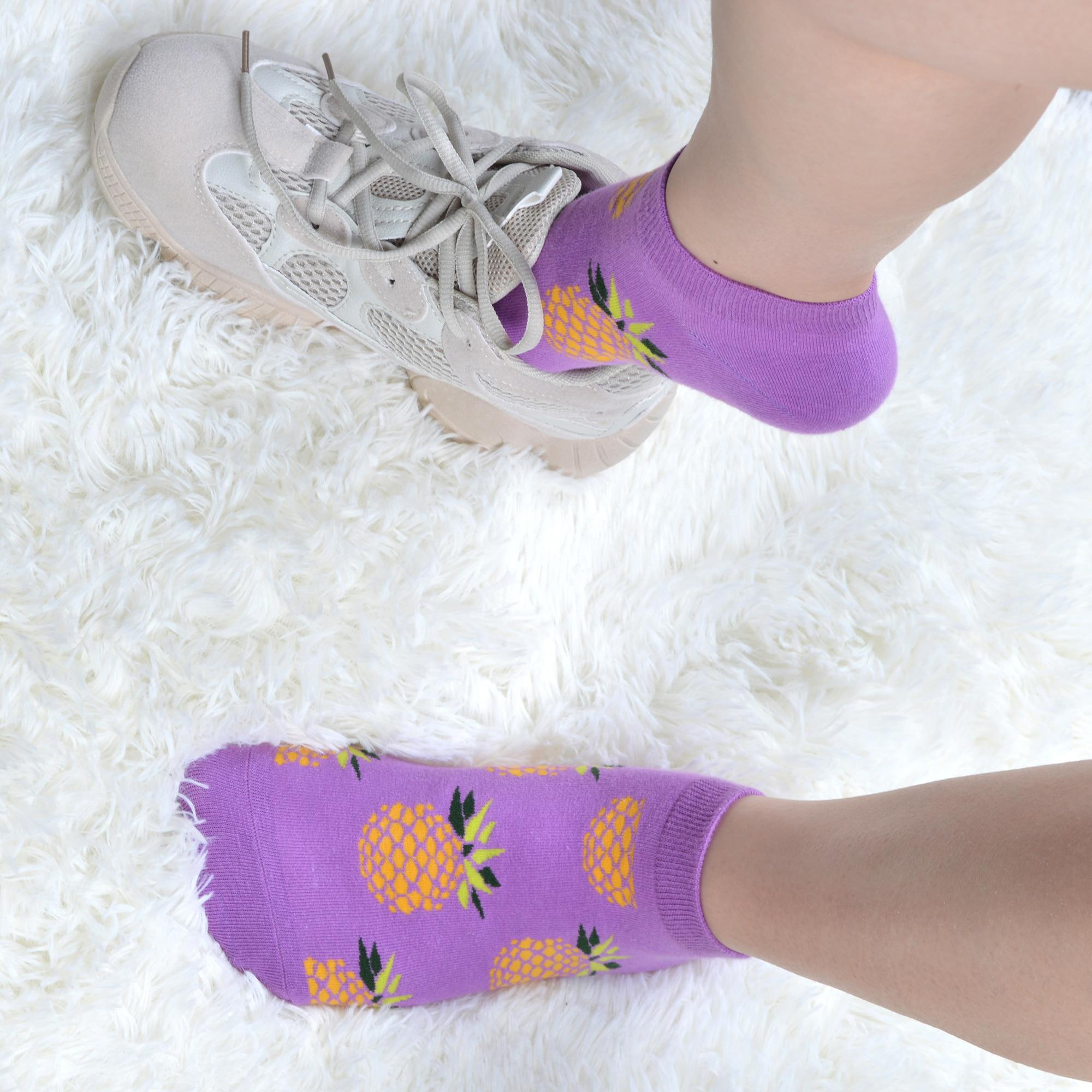 Image 5 - SANZETTI 12 Pairs/Lot Women Summer Casual Colorful Ankle Socks Happy Combed Cotton Short Socks Novelty Pattern Boat Gifts Socks-in Socks from Underwear & Sleepwears