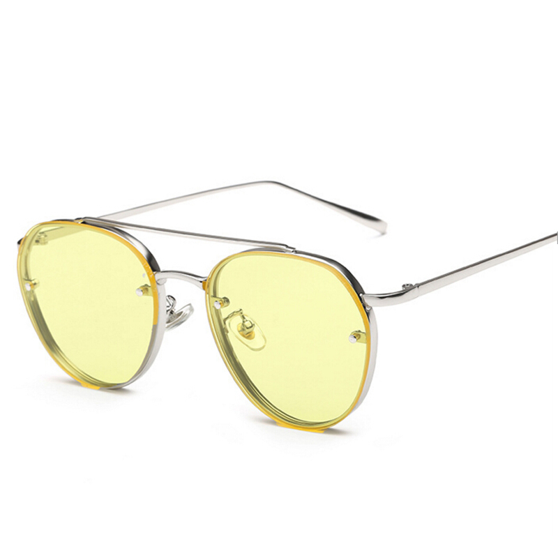 Peekaboo hot selling yellow green ocean sunglasses women fashion summer style steam punk metal sun glasses men 2020 uv400 1