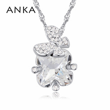 ANKA austria crystal & rhinestone charm butterfly necklace glaring design alloy plated for women romantic  gifts 121789