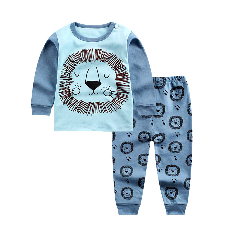 2018 3M-4Y Baby Boy Girls Clothing Set Cartoon Cotton Newborn Baby Clothes Long Sleeve T-Shirts+Pants Unisex Children Clothing 2018 autumn baby boy clothes baby clothing set fashion cotton long sleeved cartoon t shirt pants newborn baby girl clothing set