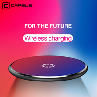 CAFELE Qi Wireless Charger For Iphone X 8 8 Plus Fast Wireless Charger For Samsung Galaxy