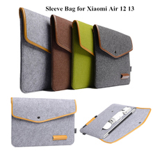 купить Sleeve Bag For Xiaomi Mi Air 12.5 13.3 Inch Laptop Pouch 12 13 Notebook universal Case Wool Felt bag Tablet PC Protective Cover дешево