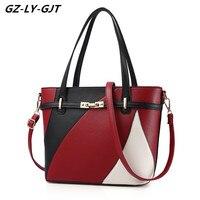 GZ LY GJT Top Handle Bag Handbags Women Fashion PU Leather Famous Designer Brand Cute Vintage